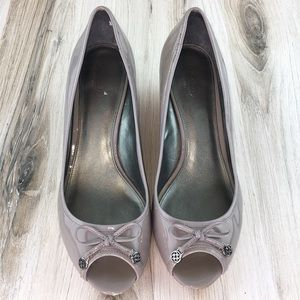 Coach Lilac Open Toe Wedges